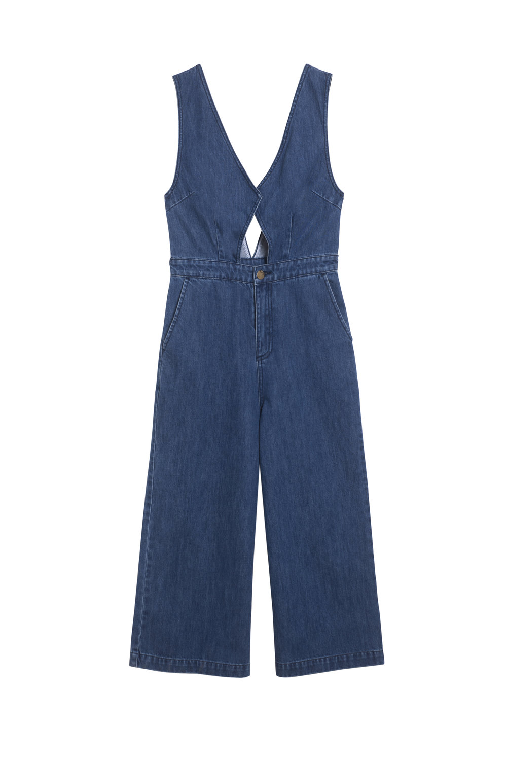 TOBY Denim Jumpsuit - Layer these denim overalls over a turtleneck for a transitional outfit you can wear from brunch with the girls to cocktails with the boy(s). The clean lines flatter any body type and you'll embody the cool and effortless chic lifestyle any Suncoo Girl strives for.
