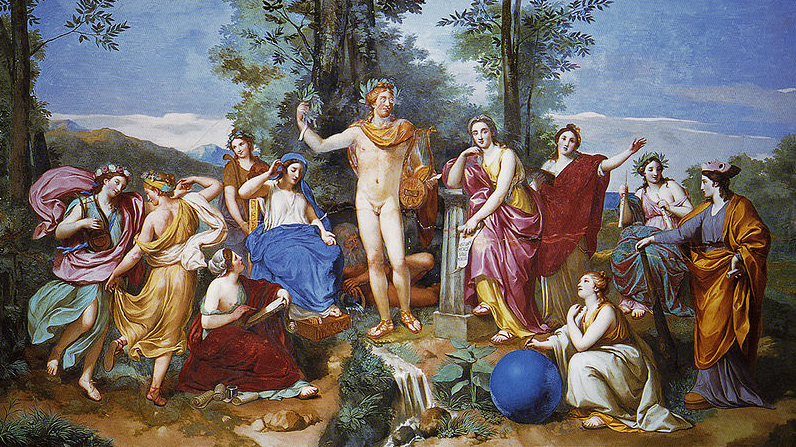 Anton Raphael Mengs: Apollo and the 9 Muses.