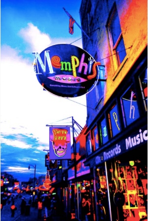 Beale Street Memphis by Invert The World