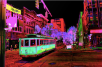 Trolly Night on Main by Invert The World