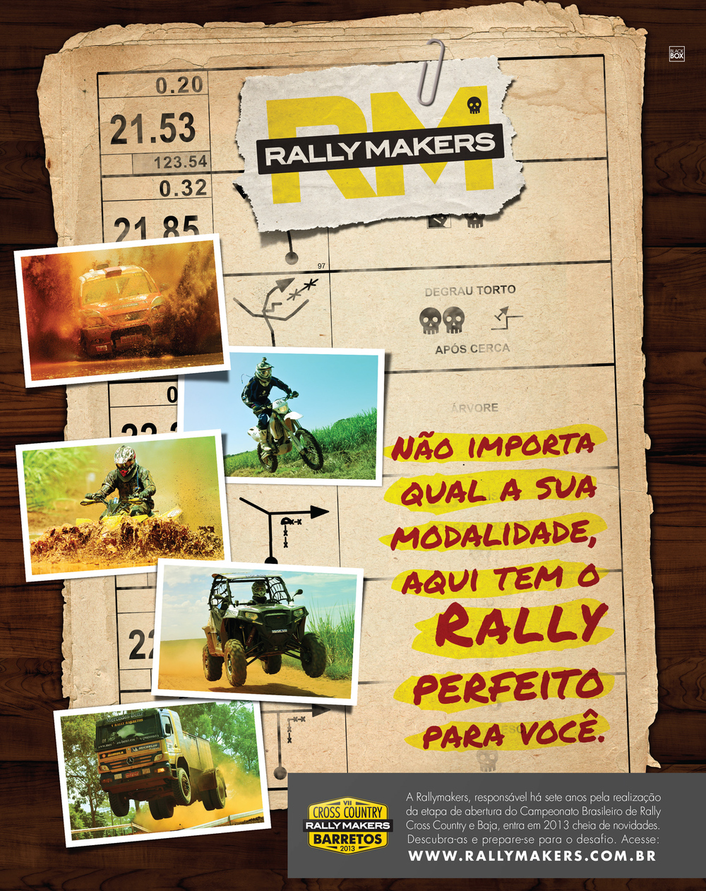 Full Page ad for the Brazilian Rally Yearbook.