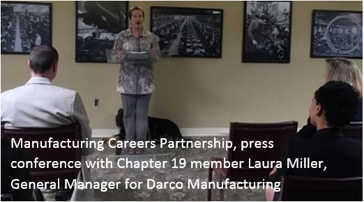 Laura explaining Manufacturing Careers Partnership S2015.PNG