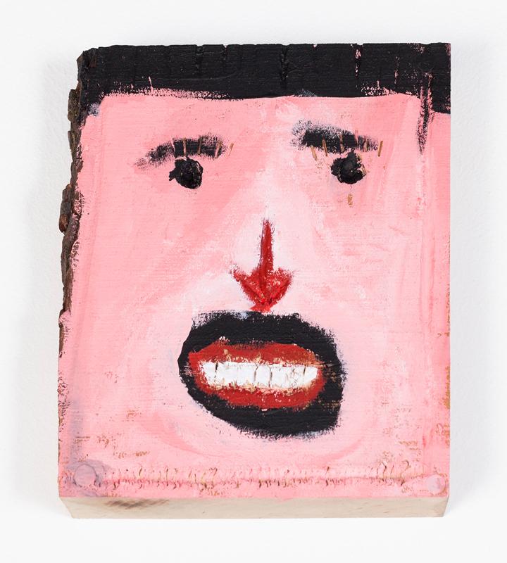"""Michael Sailstorfer, """"Papa"""", 1986 (6-7 Jahre), Acryl auf Holz , 20 x 25 cm. Courtesy Michael Sailstorfer und König Galerie, Berlin. Copyright VG Bild-Kunst, Bonn. Photo: Jonas Wilisch, www.setform.de"""