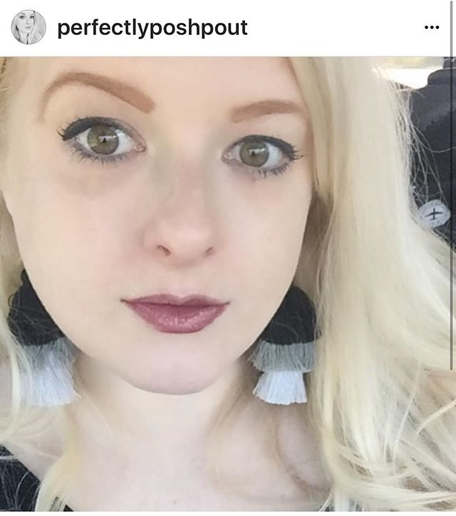 #Repost of this pretty lady! She said these are her go to earrings!!! #PatinaPeonies