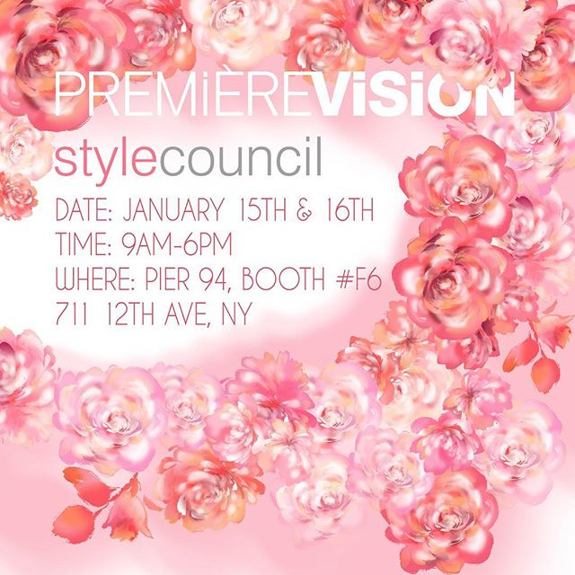 Next week is PV!!! Make sure you stop by our booth #F6!!! If you are unable to attend and want to view the collection please email creativeservices@stylecouncil.com to schedule an appointment. We have some amazing SS20 designs!!!