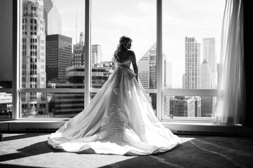 The Trump Hotel is one of the best hotels for wedding prep in the city; the suites are large and have not only a lot of natural light, but also incredible views.