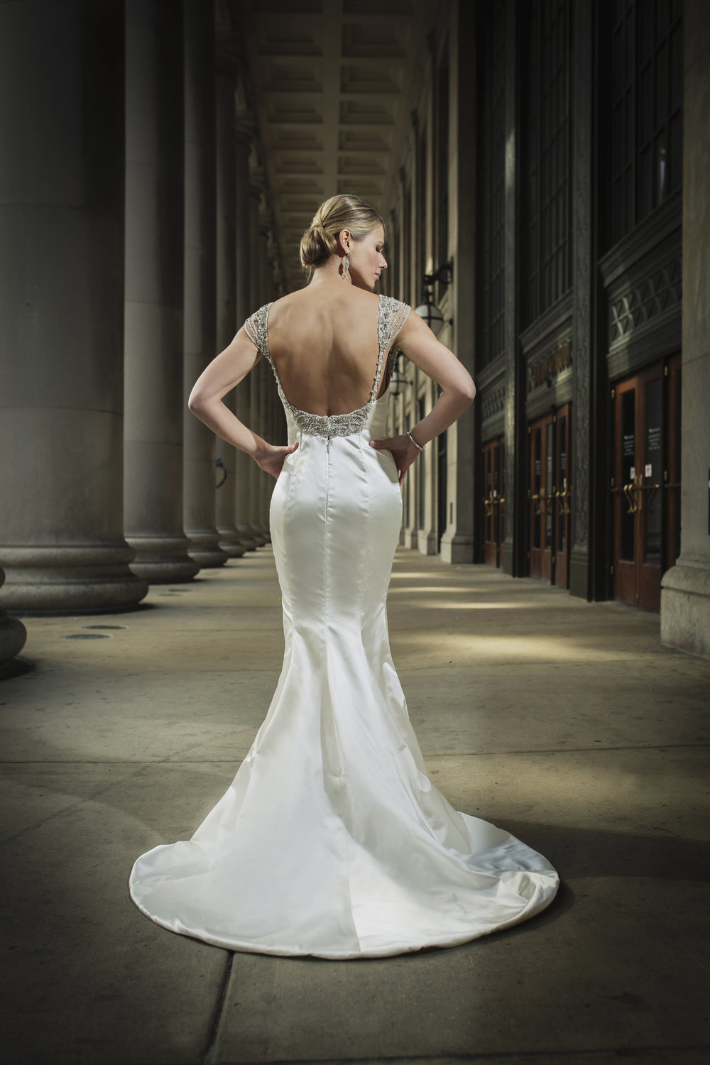 Bridal Portrait at Chicago Cultural Center