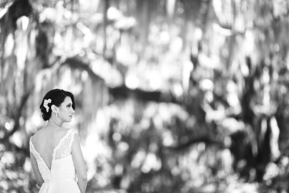 Bridal Portrait at Honey Horn Plantation