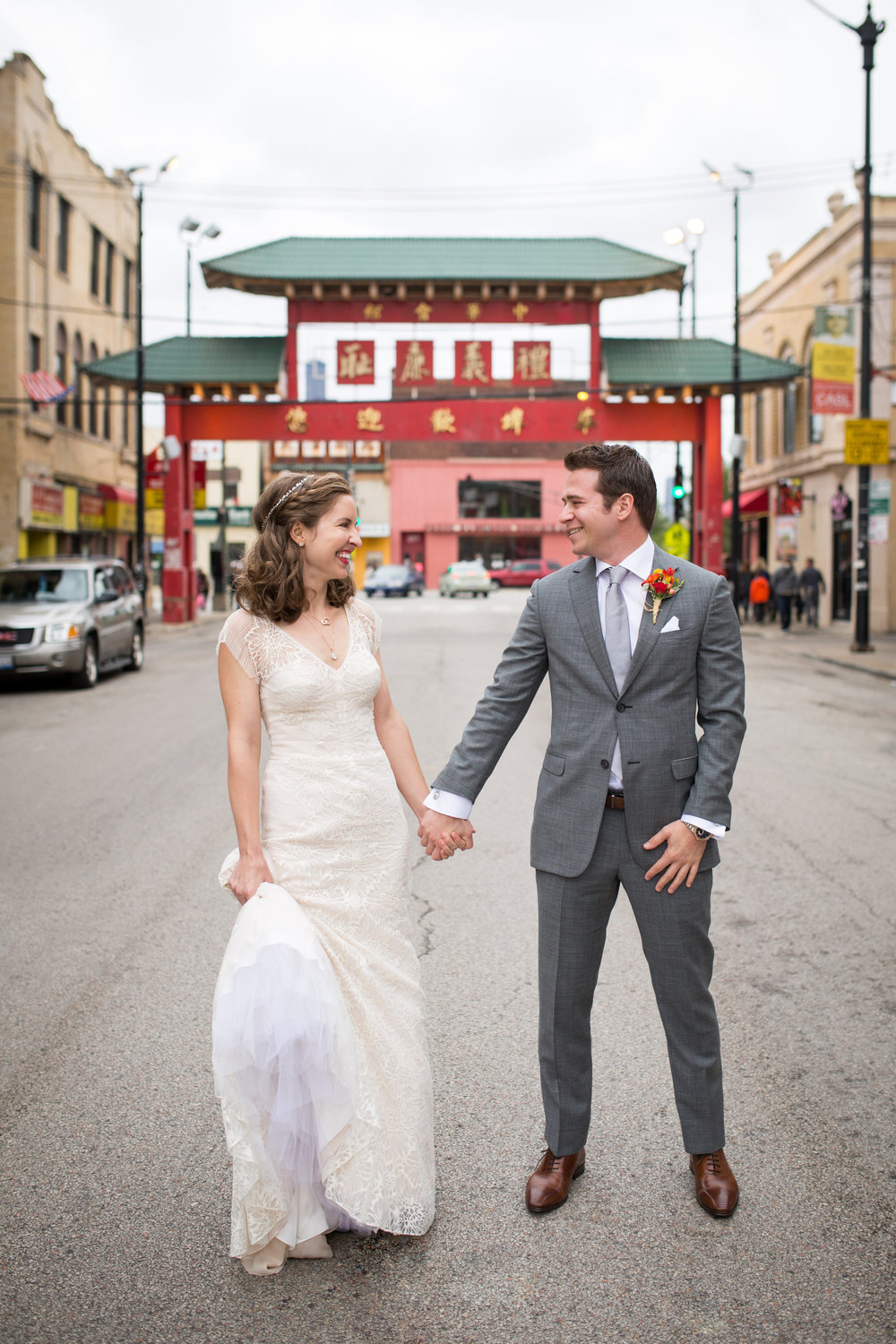 Wedding photography in China Town Chicago