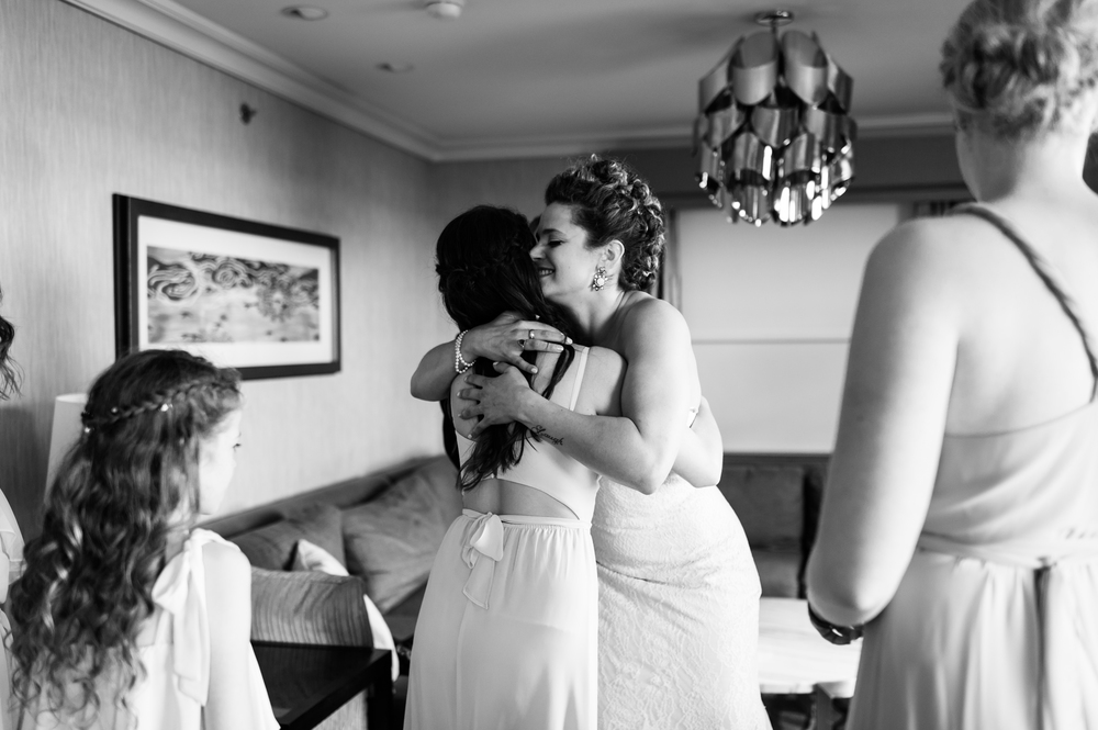 Wedding getting ready at the hilton