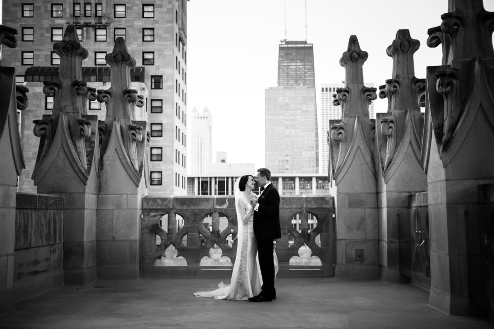 Chicago Wedding Photography Tribune Tower
