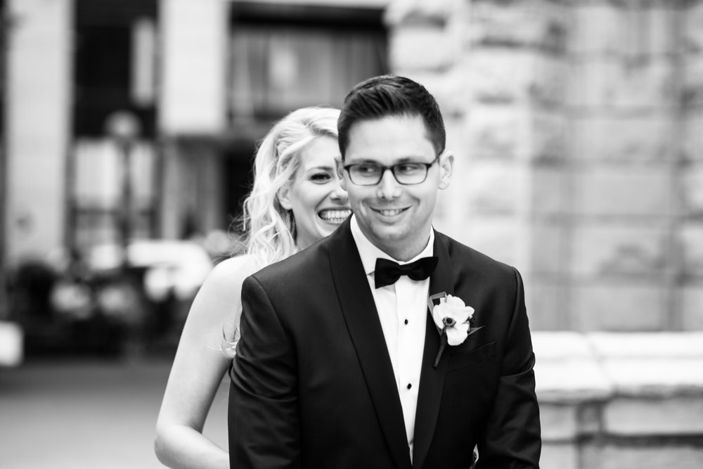Chicago wedding photography first look