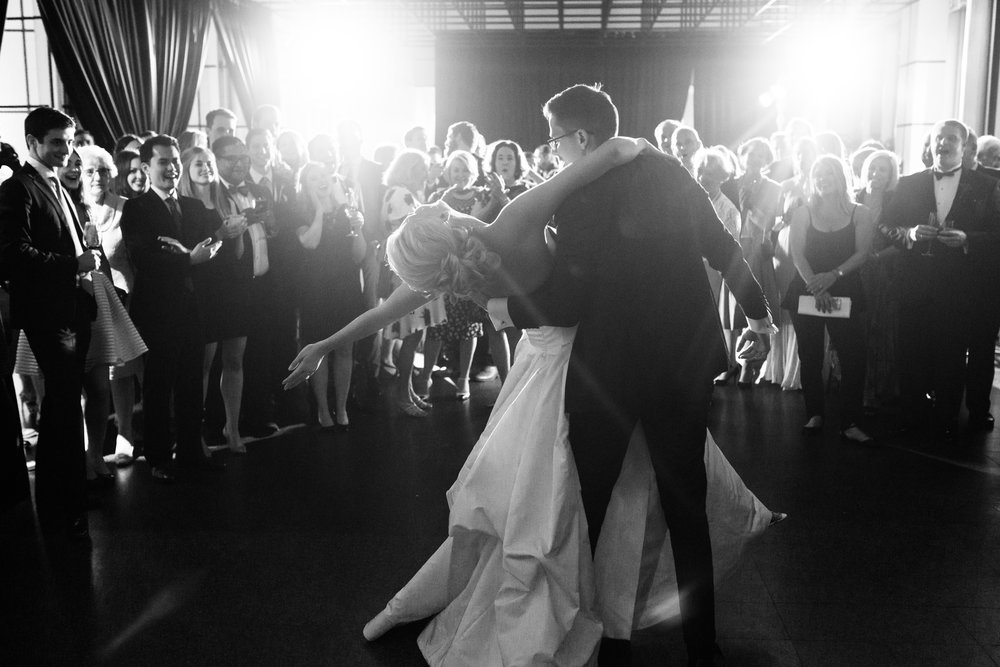 wedding photography First Dance at MCA, Chicago
