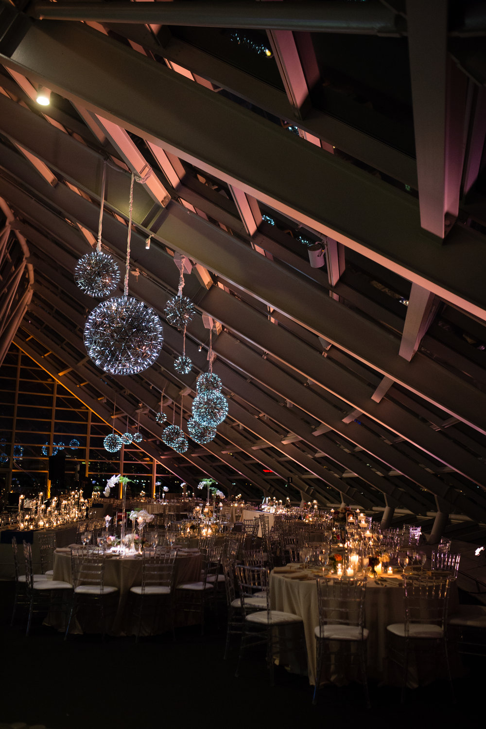 wedding reception at the adler planetarium