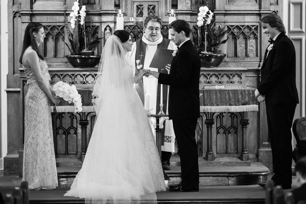 Wedding ceremony at St. James Lutheran Church Chicago