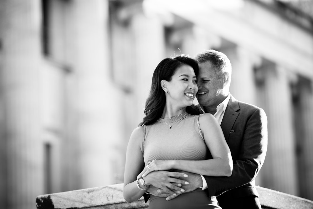 Engagement Photos in downtown chicago