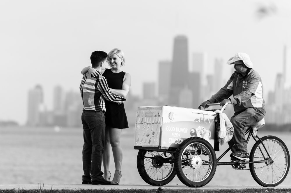 Chicago Skyline Engagement Photography
