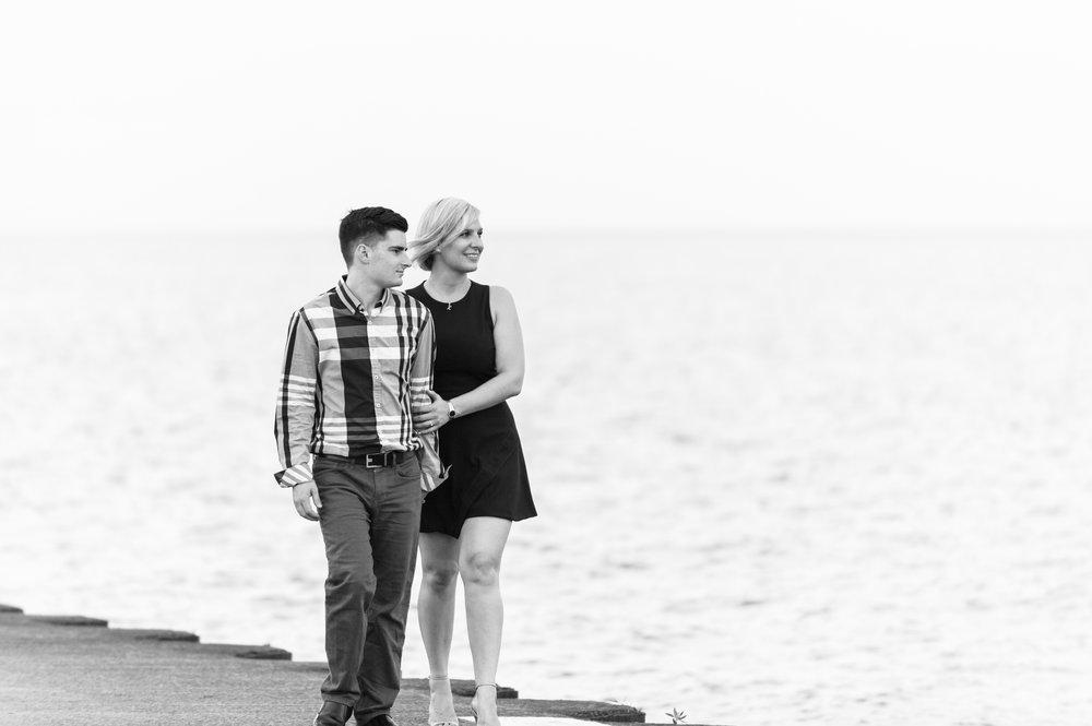 Lake Michigan Engagement Photography