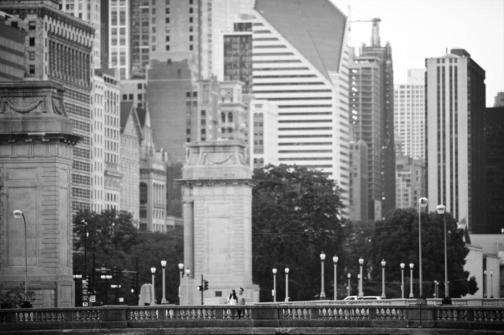 Chicago river engagement photos