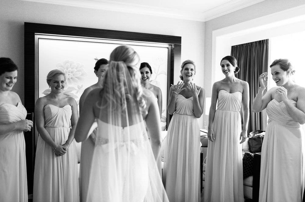 Bride and Bridesmaids at the Peninsula Chicago