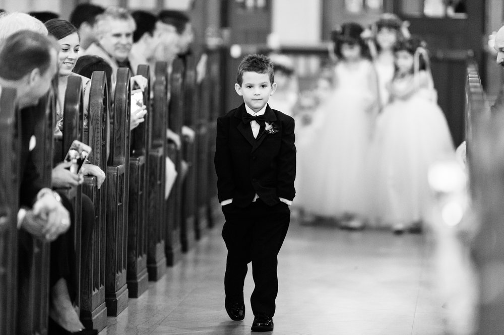 ring bearer at St. James Chapel