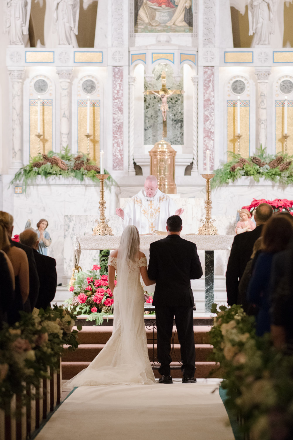 wedding at our lady of pompeii