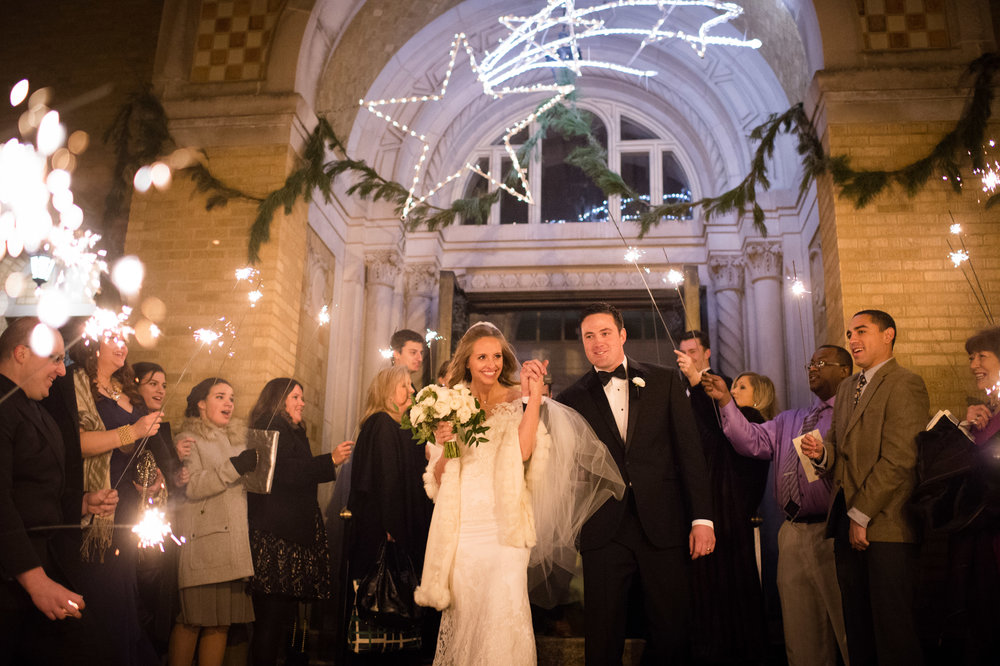 sparkler exit chicago wedding