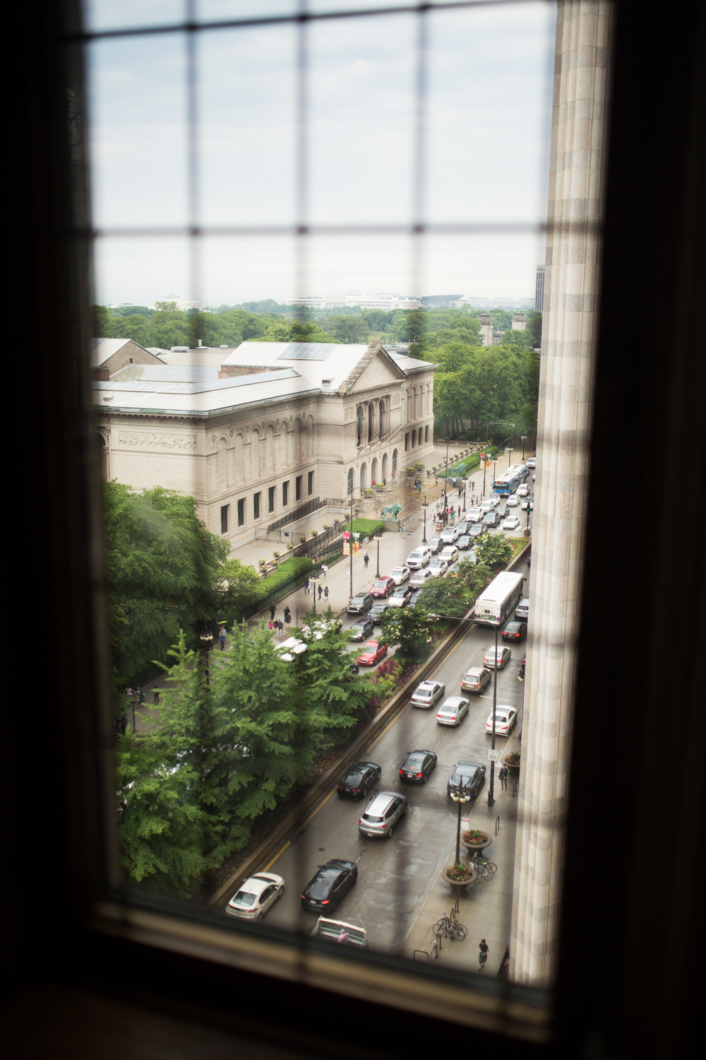 View of the Art Institute of Chicago from the University Club.