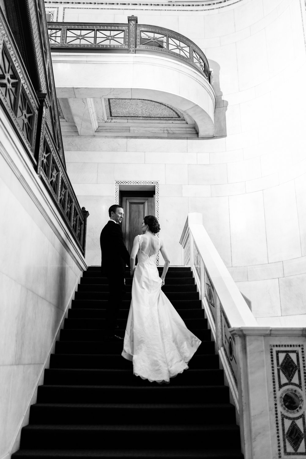 Editorial wedding photography at Chicago Cultural Center