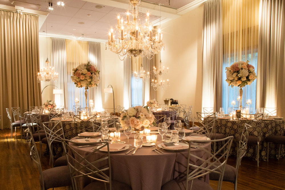 Wedding Reception at Ivy Room Chicago by HMR Designs
