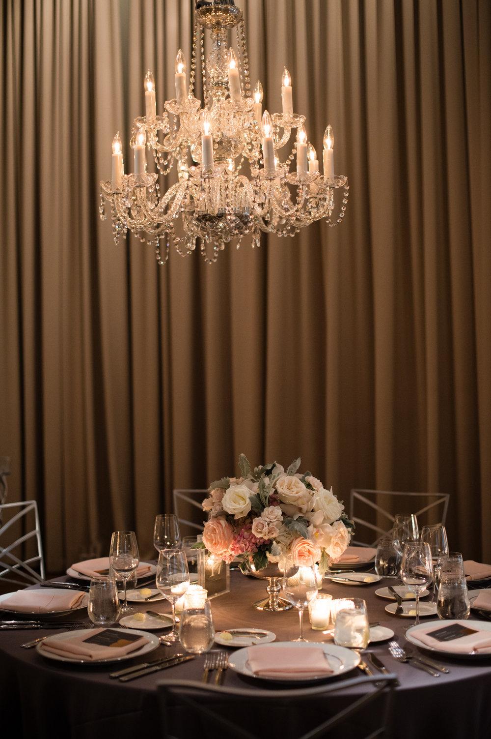 Ivy Room Chicago classic wedding reception decor by HMR Designs