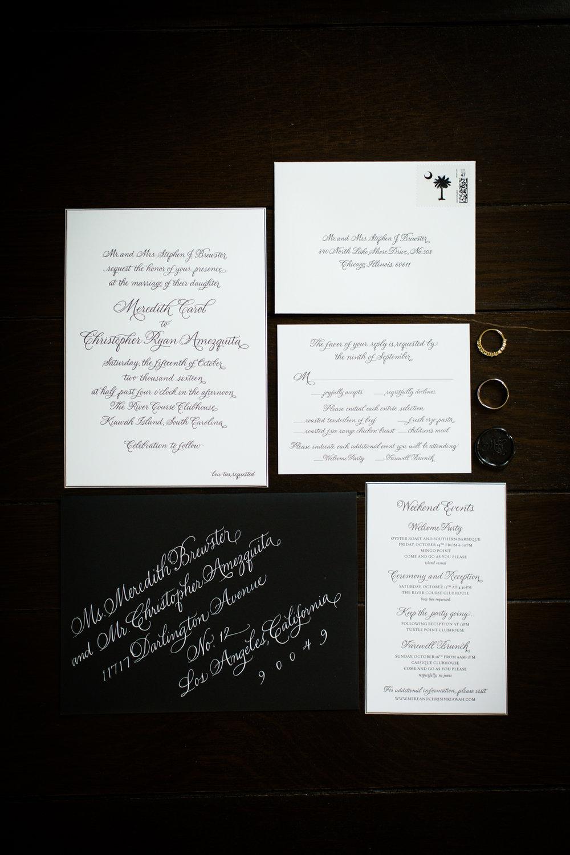 Invitation suite for destination Kiawah Island wedding