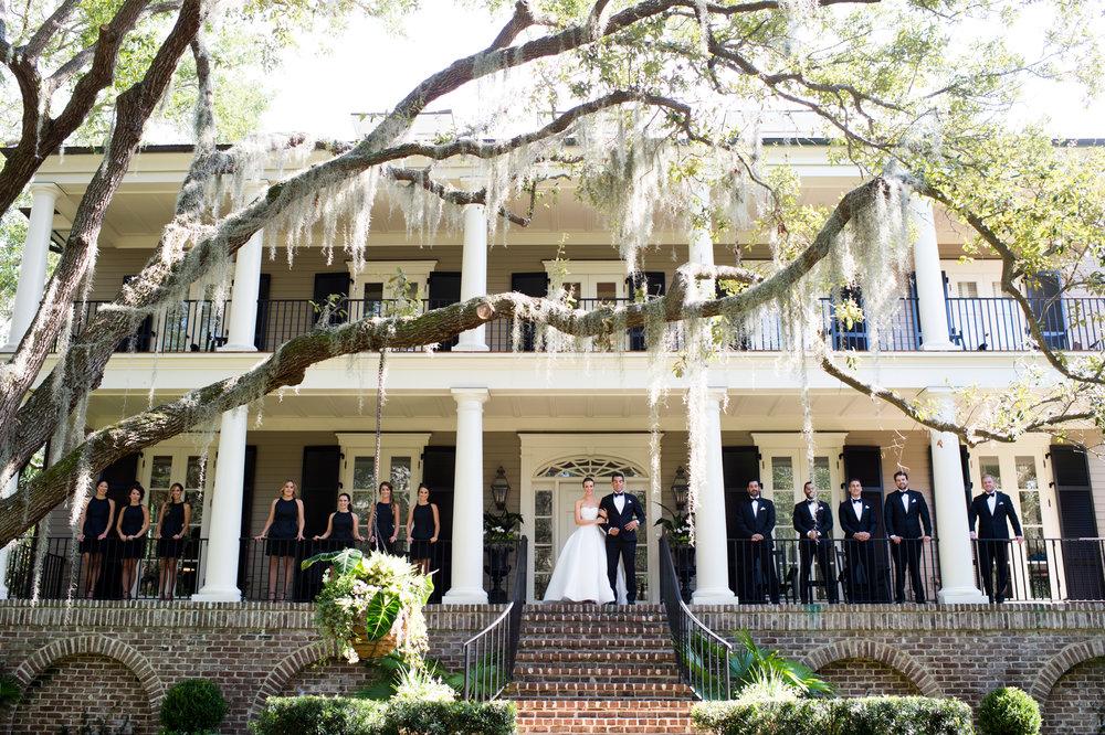 Wedding party portrait in Kiawah Island, South Carolina