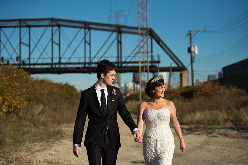 Documentary urban wedding photography in Chicago, Il