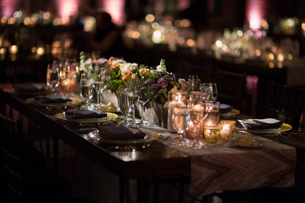 Urban autumn wedding decor at Morgan Manufacturing by Revel Decor
