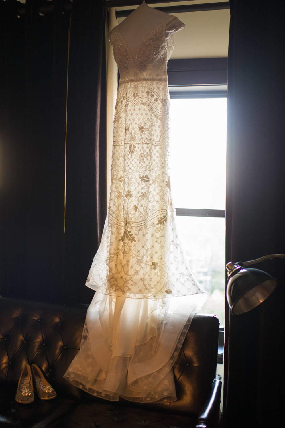 Bridal gown at Chicago Athletic Association Hotel