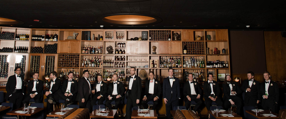 Groomsmen portrait at Chicago Athletic Association