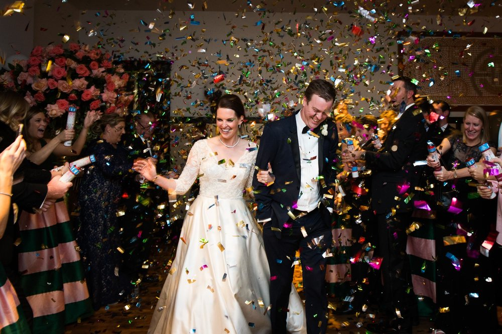 Confetti wedding exit at Chicago Athletic Association Wedding