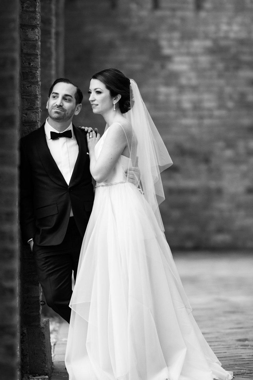 Wedding portrait at Bridgeport Art Center
