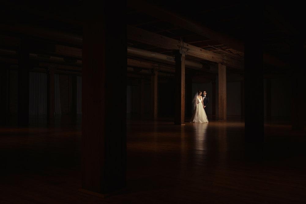 Editorial wedding photography in Chicago - Bridgeport Art Center Skyline Loft Wedding