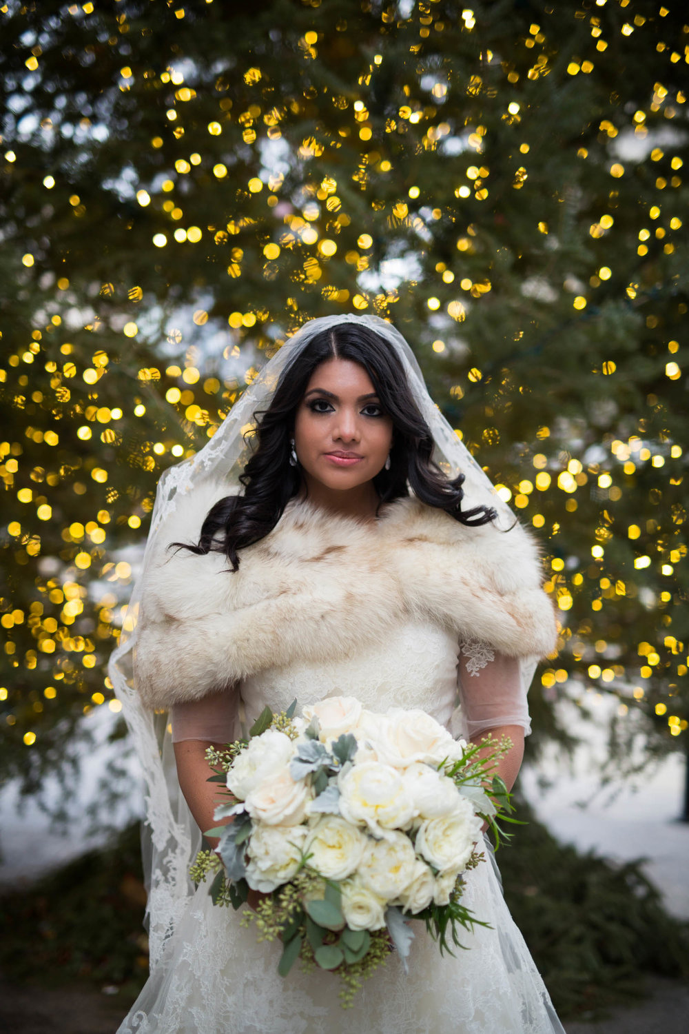 Winter bride in Chicago