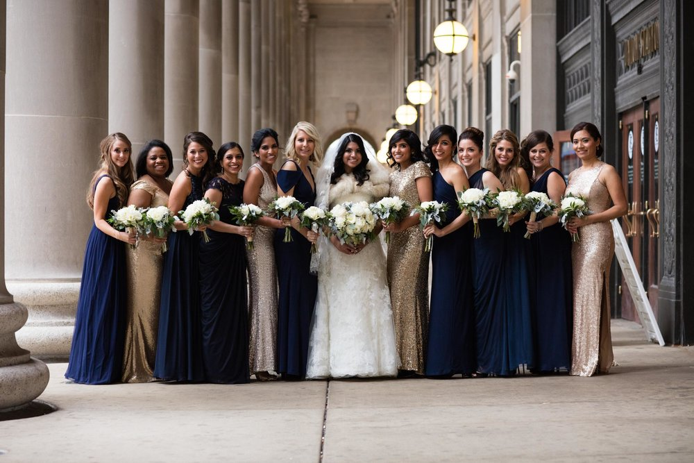 Bridal party portrait in chicago