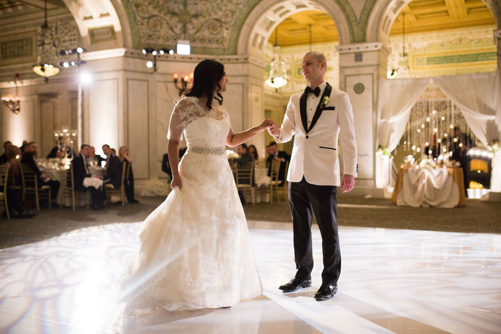 First dance at Chicago Cultural Center Wedding