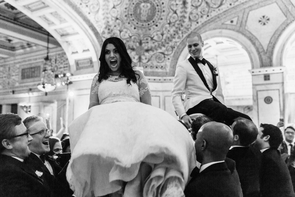 Hora at Chicago Cultural Center Wedding