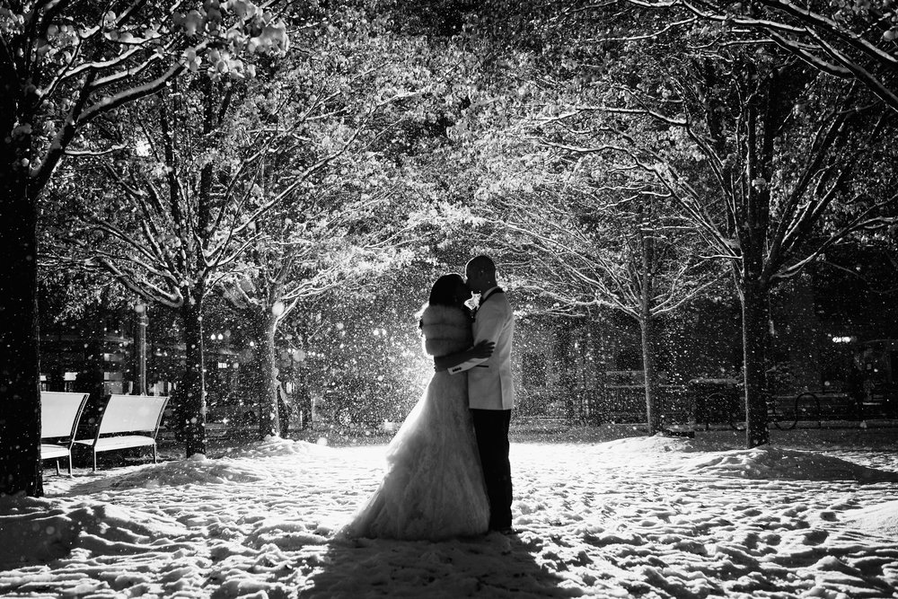 Editorial wedding photography in Chicago - Winter Wedding at Chicago Cultural Center