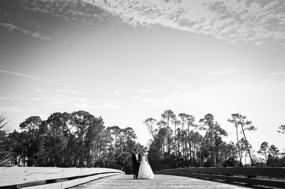 Kiawah Island portraits of bride and groom on their wedding day