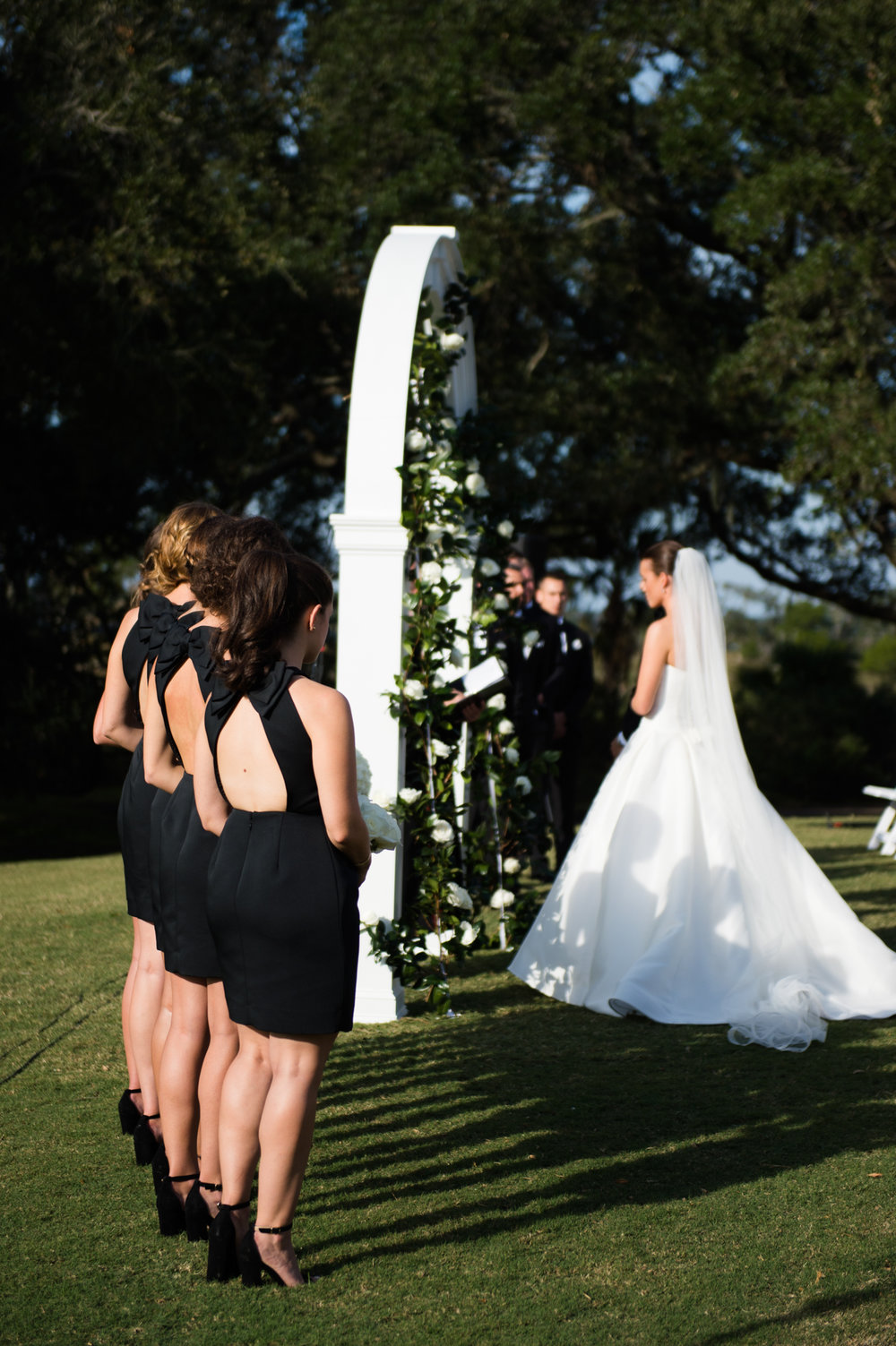 Bridesmaids dresses at Kiawah Island Wedding Ceremony