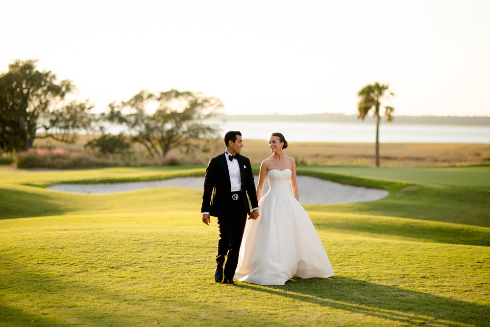 Documentary wedding portrait at Kiawah Island Golf Club