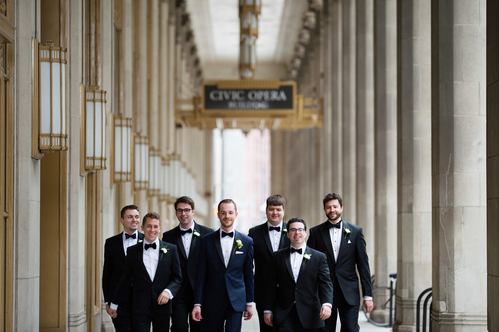 Groomsmen at Lyric Opera Chicago