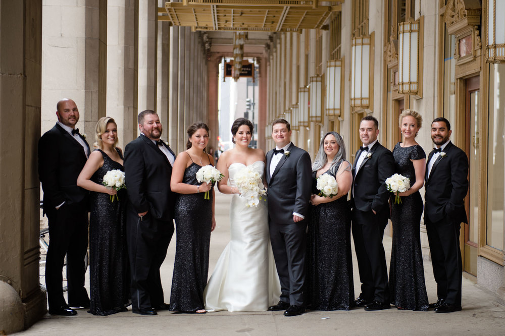 Wedding party locations in downtown Chicago